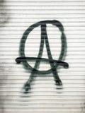 Символ анархиста стоковые изображения rf