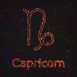 Символ астрологии сияющий абстрактная козочка иллюстрация штока