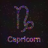 Символ астрологии сияющий абстрактная козочка бесплатная иллюстрация