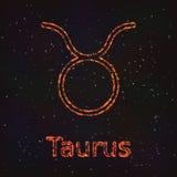 Символ астрологии сияющий абстрактный бык бесплатная иллюстрация