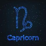 Символ астрологии сияющий голубой абстрактная козочка иллюстрация штока