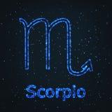 Символ астрологии сияющий голубой Scorpio зодиака бесплатная иллюстрация