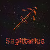 Символ астрологии сияющий Стрелец зодиака бесплатная иллюстрация