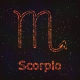 Символ астрологии сияющий Scorpio зодиака бесплатная иллюстрация
