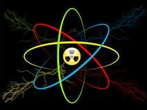 Символ атома Радиация атома вектора Стоковые Изображения