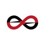 Символ безграничности белизна изолированная предпосылкой также вектор иллюстрации притяжки corel Стоковое Изображение
