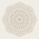 Символ вектора абстрактный радиальный индийский Стоковое Изображение
