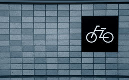 Символ велосипеда на стене Стоковые Изображения