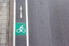 Символ велосипеда на улице города Стоковая Фотография RF