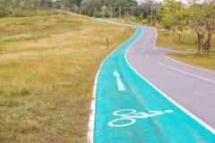 Символ велосипеда на улице Стоковые Изображения RF