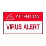 Символ внимания вируса изолированный на белой предпосылке, иллюстрации Стоковое Изображение