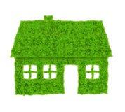 Символ зеленого дома Стоковые Изображения RF
