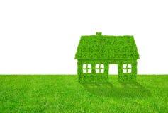 символ зеленой дома Стоковые Фотографии RF