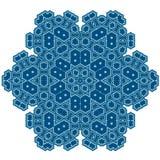 Символ зимы Контур мандалы Стоковое Изображение
