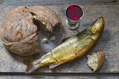 Символ знака святого причастия хлеба и вина Стоковая Фотография RF