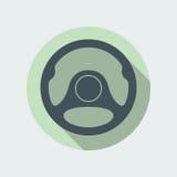 Символ значка рулевого колеса автомобиля плоский Стоковые Фотографии RF
