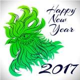 Символ зодиака петуха 2017 год Стоковое фото RF