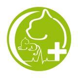 Символ здоровья кота на белой предпосылке иллюстрация штока