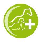 Символ здоровья лошади на белой предпосылке иллюстрация вектора