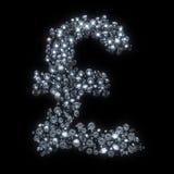 Валюта символа диаманта - фунт Стоковые Изображения
