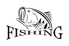 Символ дизайн-иллюстрации рыбной ловли вектора иллюстрация вектора