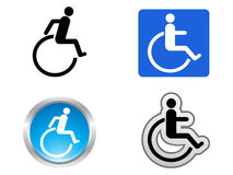 Символ инвалидности Стоковое Изображение