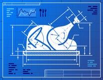 Символ индюка рождества весь любит drawi светокопии Стоковое Изображение RF