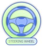 Символ и значок рулевого колеса Стоковые Фото
