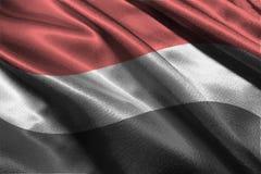 Символ иллюстрации национального флага 3D Йемена Стоковое фото RF