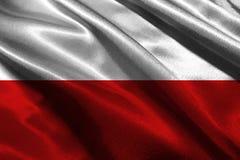 Символ иллюстрации национального флага 3D Польши вектор типа Польши имеющегося флага стеклянный Стоковые Изображения