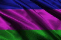 Символ иллюстрации флага 3D республики ` s людей Кубани Стоковое Изображение RF