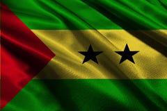Символ иллюстрации флага 3D Сан Томе и Принчипе Стоковые Изображения