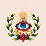 Символ каменщиков Стоковое Фото