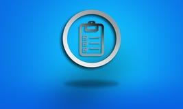 Символ контрольной пометки задачи стоковые фото