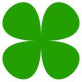 символ клевера 4-лист Простой плоский значок для везения, удачливой концепции иллюстрация штока