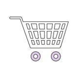 Символ магазинной тележкаи Стоковое Изображение