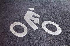 Символ майны велосипеда в Нью-Йорке стоковая фотография