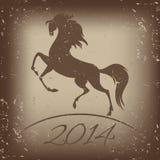 Символ Нового Года лошади - иллюстрации стоковое изображение rf