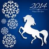 Символ Нового Года лошади - иллюстрация,  стоковые изображения