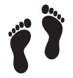Символ ноги - флаг lgbt печати ноги Стоковое Изображение RF