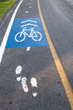 Символ объектива велосипеда в парке Таиланде Стоковые Фото