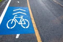 Символ объектива велосипеда в парке Таиланде Стоковое Изображение RF