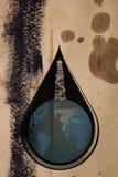 Символ добычи нефти иллюстрация штока