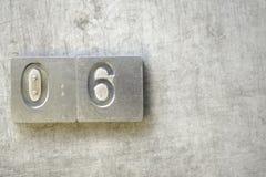 06 символов для черни Стоковая Фотография RF