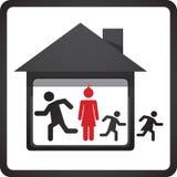 Символ дома и семьи Стоковое Изображение RF