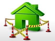 Символ дома расположенный в запретный зона бесплатная иллюстрация