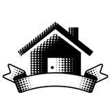 Символ дома с лентой бесплатная иллюстрация
