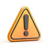 Символ опасности возгласа (предупреждения) Стоковые Изображения RF