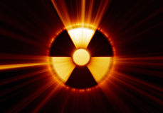 символ опасности радиоактивный Стоковые Изображения RF