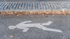 Символ дороги скрещивания человека. Стоковое Изображение